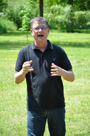 Markus Brandenstein erzählt die Geschichte des Hofes